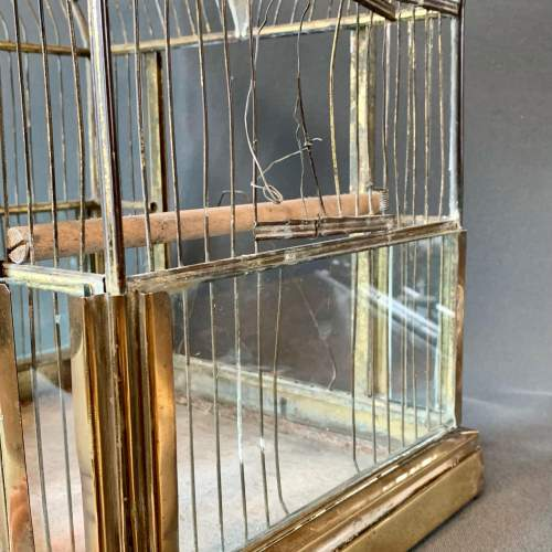 Early 20th Century Brass and Glass Birdcage image-5