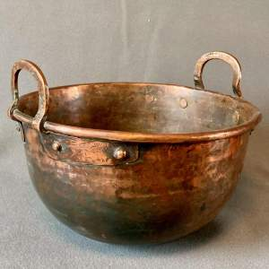 Rustic Round Bottom Copper Bowl