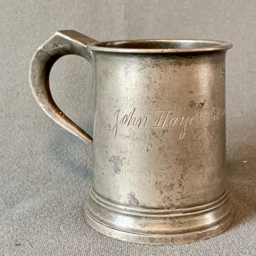 Mid 19th Century Pewter Mug image-1