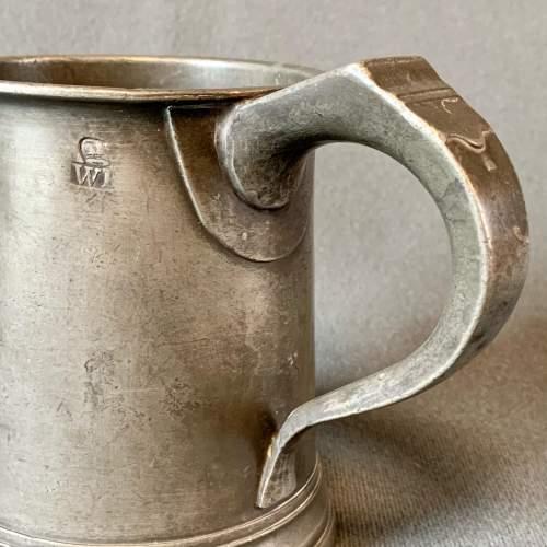 Mid 19th Century Pewter Mug image-4