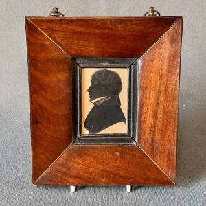 19th Century Male Silhouette in Rosewood Frame