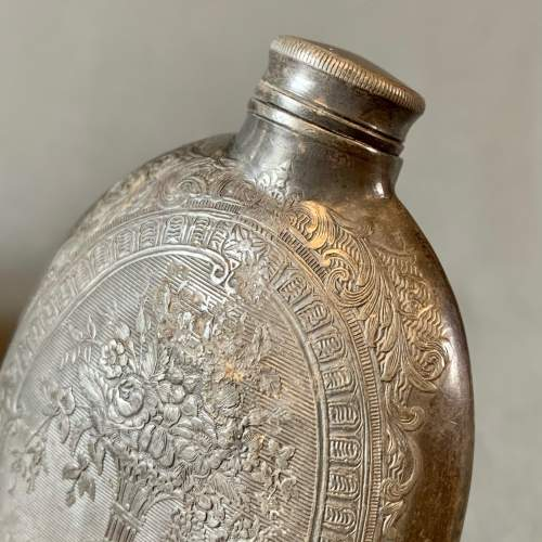 Early 19th Century Pewter Hip Flask image-4