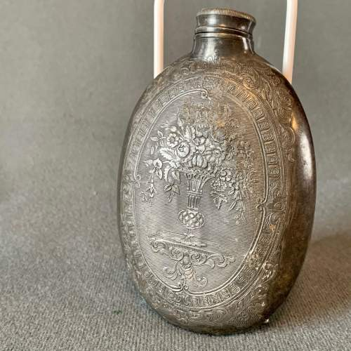Early 19th Century Pewter Hip Flask image-2