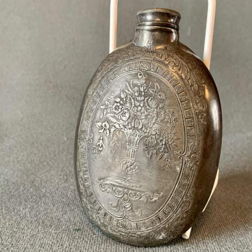 Early 19th Century Pewter Hip Flask image-1