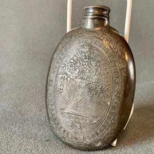 Early 19th Century Pewter Hip Flask