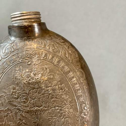 Early 19th Century Pewter Hip Flask image-6