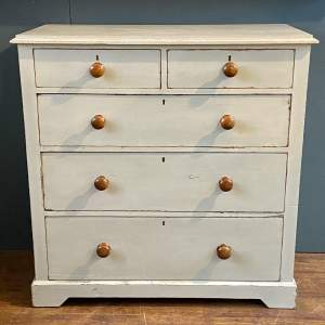 Victorian Large French Painted Pine Chest of Drawers