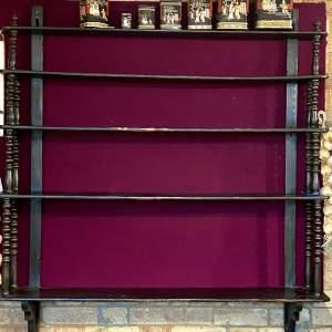 French Verrier - Black Painted Shelves