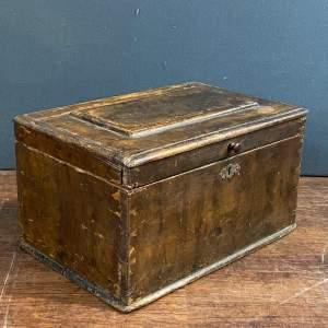 19th Century Swedish Small Painted Folk Art Box
