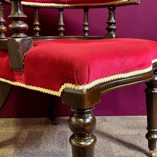 19th Century Mahogany Framed Desk Chair image-4