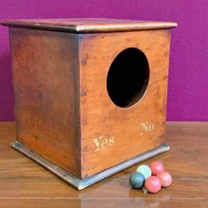 Unusual Late Victorian Ballot Box