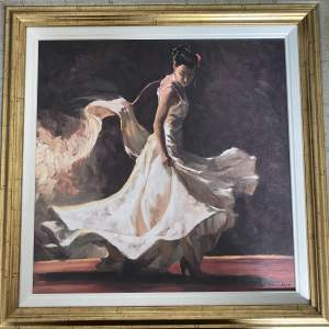 Mark Spain Hand Embellished Giclée Canvas Print - Burning Passion I - with COA