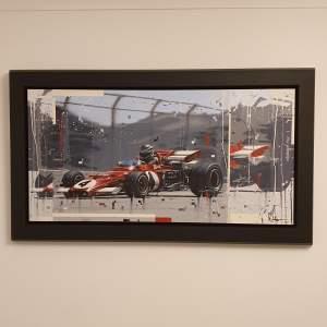 Kris Hardy Original Oil Painting on Canvas titled Vintage F1 Car