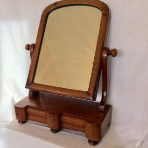 Victorian Dressing Table Mirror with Two Drawers