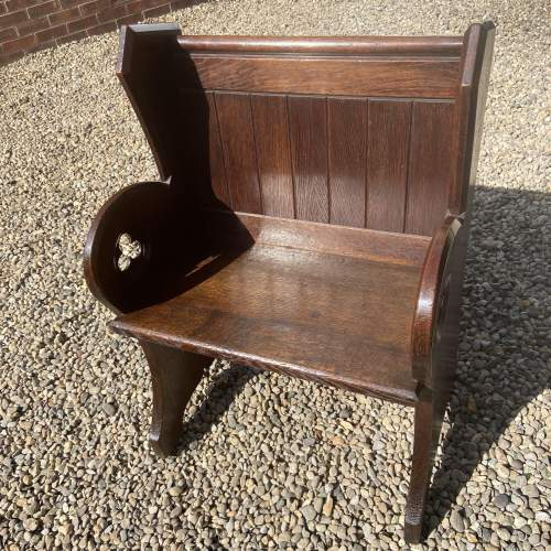 19th Century Oak Single Pew image-4