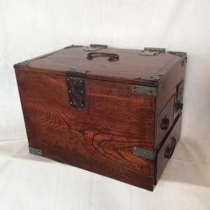 Antique Japanese Tansu Calligraphy Box