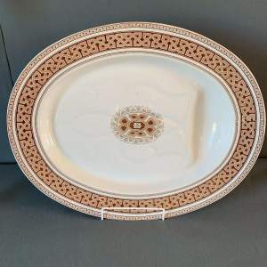 Large 19th Century Copeland Meat Plate