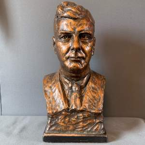 Bronze Patinated Plaster Bust