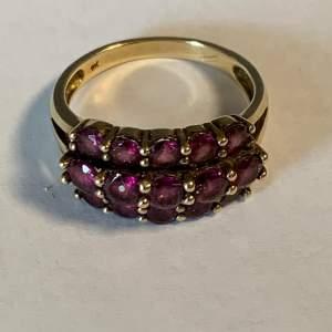 9ct Gold Garnet Multi Stone Ring
