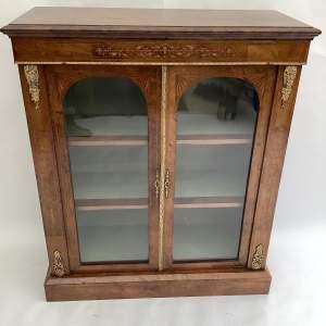 Victorian Burr Walnut Inlaid Side Cabinet