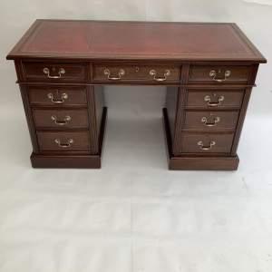Maple and Co Walnut Pedestal Desk