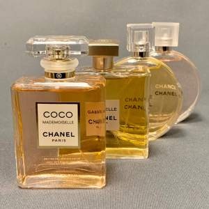 Set of Four Chanel Factice Perfume Bottles