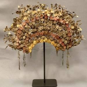 Vintage Suntiang Sumatran Wedding Headdress