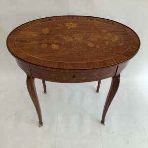 Satinwood Marquetry Occasional Table