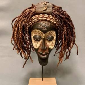 Angolan Tchokwe Carved Wooden Mask