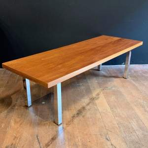 Mid 20th Century Teak Coffee Table with Chrome Legs