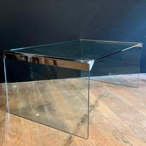 Gallotti and Radice Glass and Chrome Coffee Table