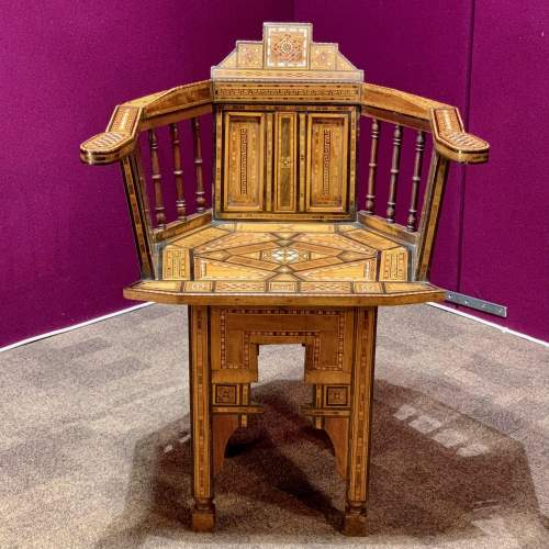Moorish Syrian Inlaid Chair image-1