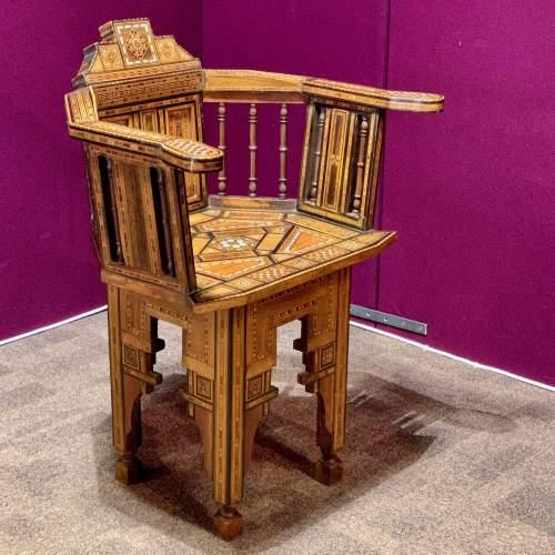 Moorish Syrian Inlaid Chair image-2