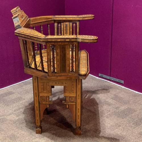 Moorish Syrian Inlaid Chair image-4