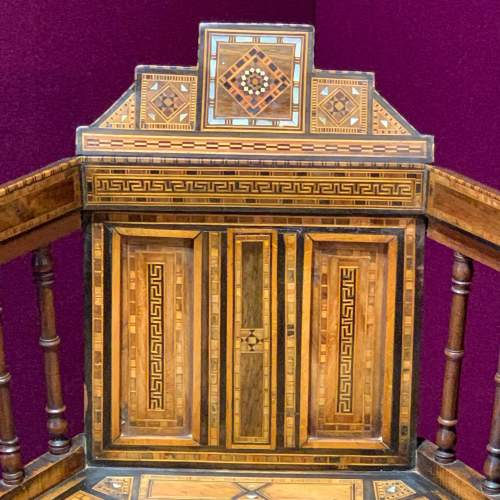 Moorish Syrian Inlaid Chair image-5