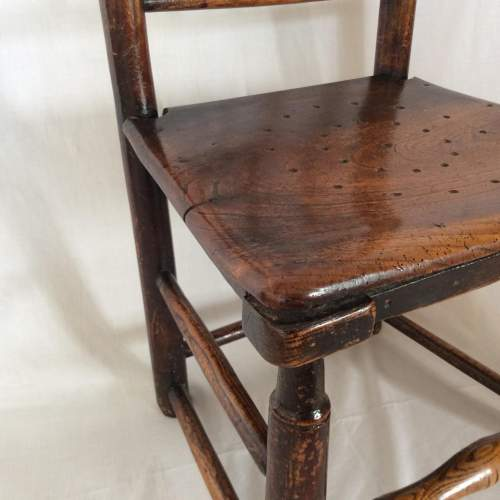 Antique Bobbin Turned Farmhouse Dining Chair image-4