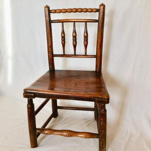 Antique Bobbin Turned Farmhouse Dining Chair image-1