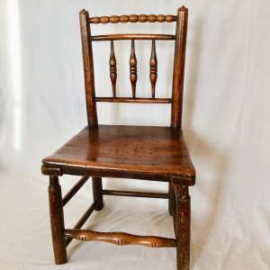 Antique Bobbin Turned Farmhouse Dining Chair