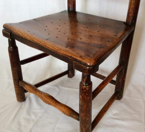 Antique Bobbin Turned Farmhouse Dining Chair image-5