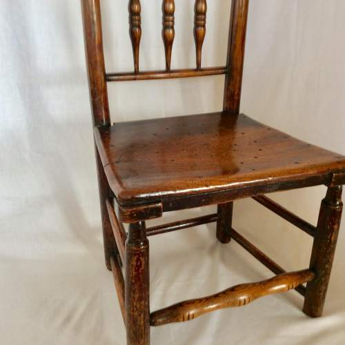 Antique Bobbin Turned Farmhouse Dining Chair image-6
