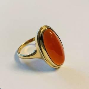 Vintage 9ct Gold Carnelian Ring