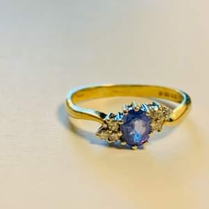 Vintage 9ct Gold Tanzanite and Diamond Ring