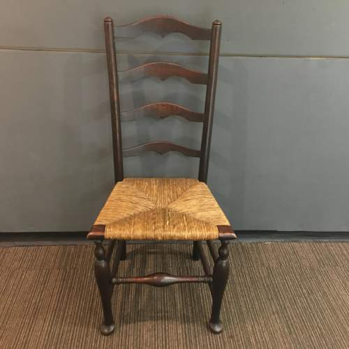 19th Century Traditional Elm Macclesfield Ladderback Chair image-2