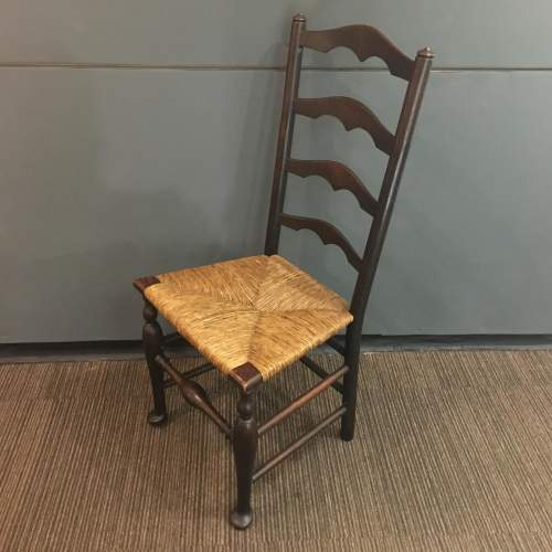 19th Century Traditional Elm Macclesfield Ladderback Chair image-3