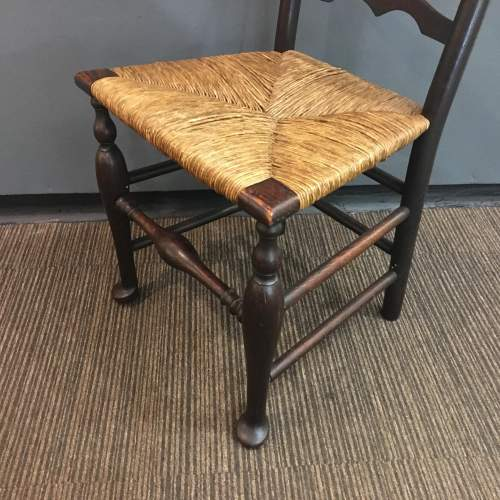 19th Century Traditional Elm Macclesfield Ladderback Chair image-4