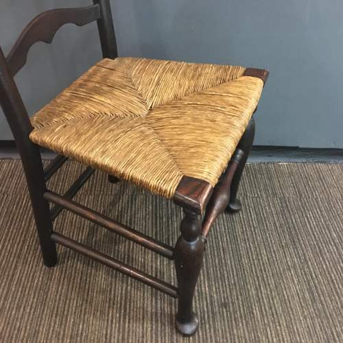 19th Century Traditional Elm Macclesfield Ladderback Chair image-5