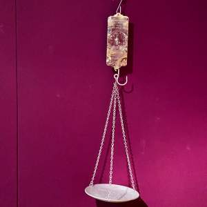 Salter Hanging Scales with Tin Pan