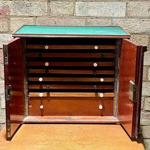 Late Victorian Eight Drawer Collectors Cabinet