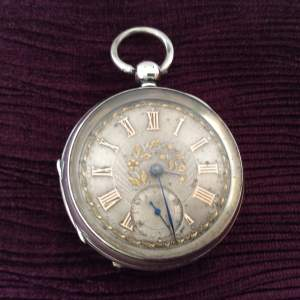 19th Century Open Face Silver Pocket Watch