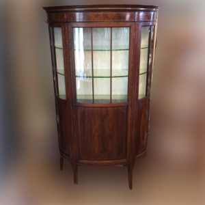 Edwardian Mahogany Bow Fronted Display Cabinet